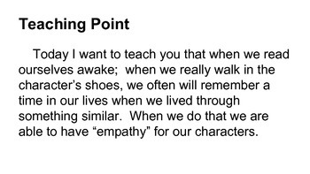 Lucy Calkins Power Point Lesson on Empathy