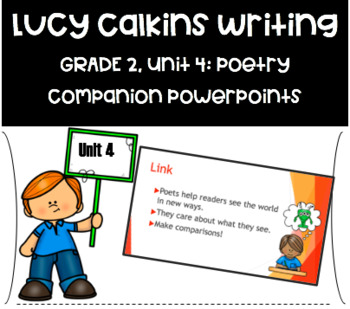 Lucy Calkins PowerPoint Unit 4: Poetry Writing- Grade 2