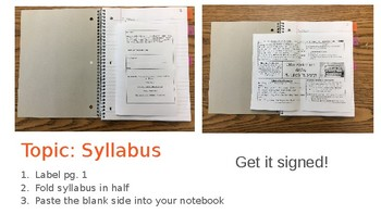 Lucy Calkins Reader's Workshop UoS - Notebook Setup and Examples