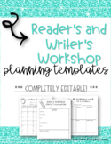 Lucy Calkins Reader's and Writer's Workshop Planning Templates