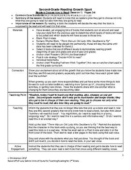 Lucy Calkins Readers Workshop Second Grade Unit 1 Summaries