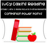 Lucy Calkins Reading:  1st Grade Read Aloud & Shared Reading (Unit 3)