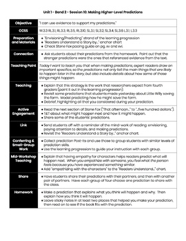 Lucy Calkins Reading Lesson Plan Template (MS Word and Google Docs)