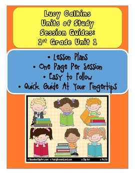 Lucy Calkins Reading Units of Study First Grade Unit 1 Lesson Plans of Sessions