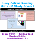 Lucy Calkins Reading Units of Study Grade 1 Unit 1 Bend 1 Slides