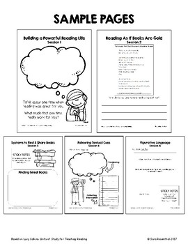 Lucy Calkins Reading Workshop - 3rd Grade Notebook - Unit 1