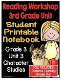 Lucy Reading Workshop - 3rd Grade Notebook - Unit 3