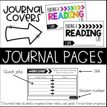 3rd Grade Reading Workshop Journals, Unit 1