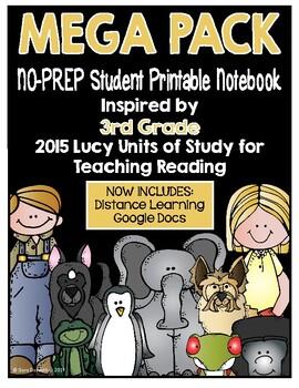 Lucy Reading Workshop - MEGA PACK 3rd Grade Notebook