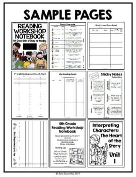 Lucy Reading Workshop - MEGA PACK 4th Grade Notebook