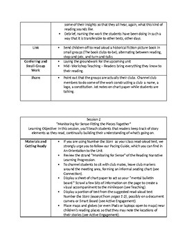 Teachers College Lucy Calkins Reading Workshop Unit 4