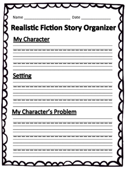 Lucy Calkins Realistic Fiction Organizer
