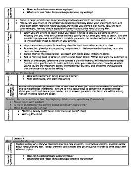 Lucy Calkins Revised Unit Lessons 1-8