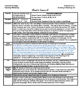 Lucy Calkins TC Reading Lessons Unit 1 Grade 3 Bend 3 Only (Bundled)