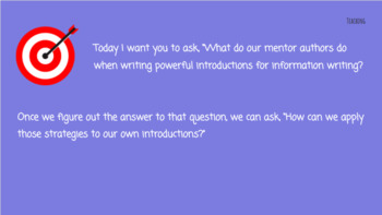 Lucy Calkins The Art of Information Writing 3rd Grade Bend 2 Slides