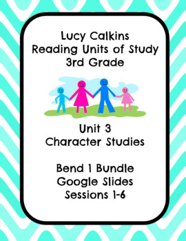 Lucy Calkins Unit 3: Character Studies Reading 3rd Grade Bend 1 Slides