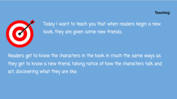 Lucy Calkins Unit 3: Character Studies Reading 3rd Grade Bend 1 Slides