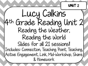 Lucy Calkins Unit Plans: 4th Grade Reading Unit 2- Reading the Weather..