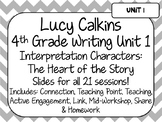 Lucy Calkins Unit Plans Powerpoint: 4th Grade Writing Unit 1 - Realistic Fiction