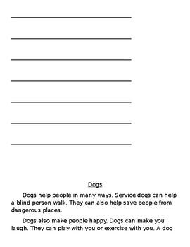 Lucy Calkins -Units of Study Comprehension Quiz (Unit 2-bend 1)