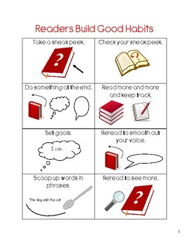 Lucy Calkins Units of Study Reading 1st Grade - Build Good Habits