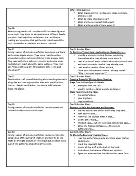 Lucy Calkins Units of Study: Reading Grade 5 Unit 2; Tackling Complexity