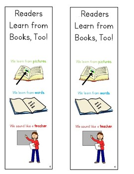Lucy Calkins Units of Study Reading Kindergarten Bookmark - Readers Learn Too