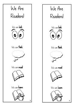 Lucy Calkins Units of Study Reading Kindergarten Bookmark - We Are Readers