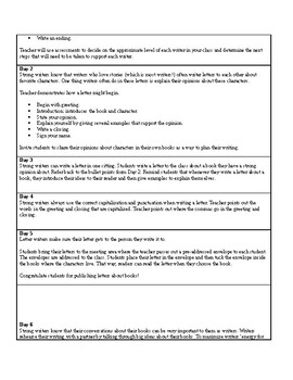Lucy Calkins Units of Study: Writing Grade 2; Unit 3 Opinion; Writing About Read