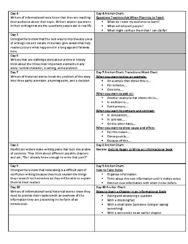 Lucy Calkins Units of Study: Writing Grade 4; Unit 3 Bringing History to Life