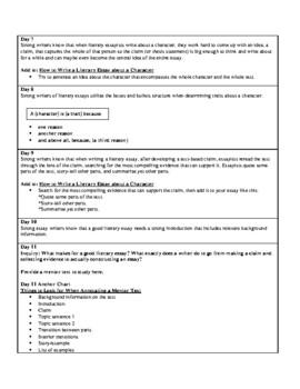 Lucy Calkins Units of Study: Writing Grade 6; Unit 2 Argument