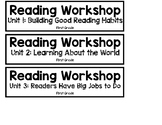 Lucy Calkins Units of Study bin labels - First Grade