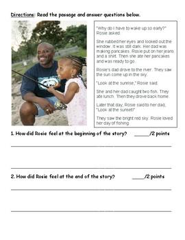 Lucy Calkins Units of Study comprehension quiz (Unit3-bend4)