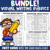 Lucy Calkins Visual Writing Rubric Bundle: 1st Grade with 2nd Grade Standards