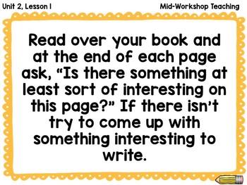 Lucy Calkins Writers Workshop Unit 2 Informational Non-Fiction  Slides