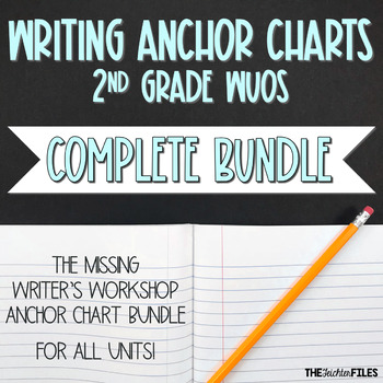 Lucy Calkins Writing Workshop Anchor Charts 2nd Grade ALL UNITS WUOS {BUNDLE}