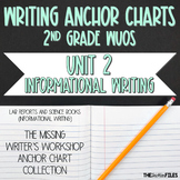 Lucy Calkins Writing Workshop Anchor Charts 2nd Grade WUOS (Unit 2 Information)