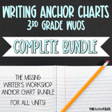 Lucy Calkins Writing Workshop Anchor Charts 3rd Grade ALL UNITS WUOS {BUNDLE}