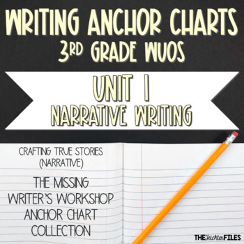 Lucy Calkins Writing Workshop Anchor Charts 3rd Grade WUOS (Unit 1 Narrative)