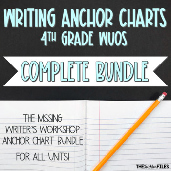 Lucy Calkins Writing Anchor Charts 4th Grade ALL UNITS {BUNDLE}