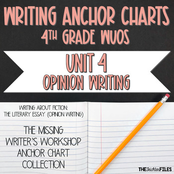 Lucy Calkins Writing Anchor Charts 4th Grade (Opinion Literary Essay)