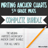 Lucy Calkins Writing Anchor Charts 5th Grade ALL UNITS {BUNDLE}