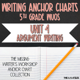 Lucy Calkins Writing Anchor Charts 5th Grade (Argument Writing)
