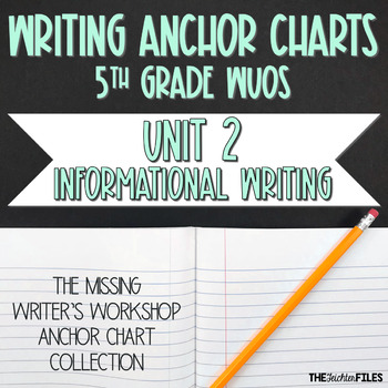 Lucy Calkins Writing Workshop Anchor Charts 5th Grade WUOS (Information Writing)