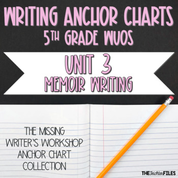 Lucy Calkins Writing Workshop Anchor Charts 5th Grade WUOS (Memoir Writing)