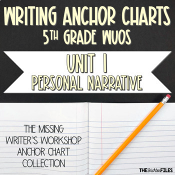 Lucy Calkins Writing Workshop Anchor Charts 5th Grade WUOS (Unit 1 Narratives)