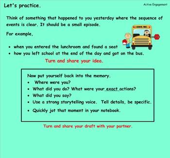 Writing Workshop Crafting True Stories: Unit 1 Lessons 7-19 Bundled