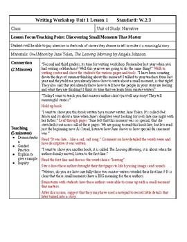 teaching narrative writing 5th grade
