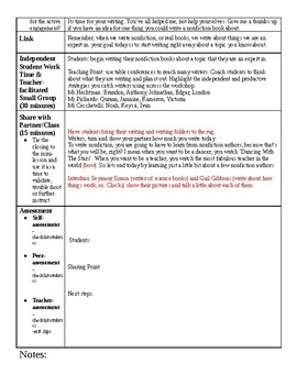 Lucy Calkins Writing Grade 2 Unit 2 (Informational, How-To) Lesson Plans