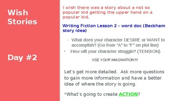 Lucy Calkins Writing Realistic Fiction PPT Bends 1,2, and 3